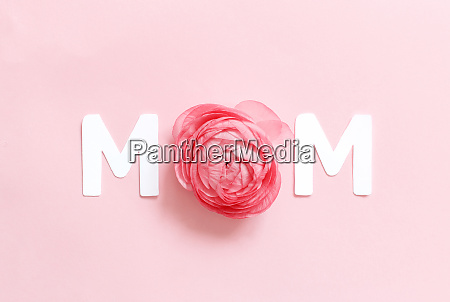 flower and text mom on a