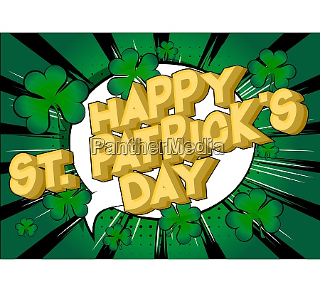 st patricks day greeting card poster