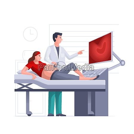 pregnant woman getting ultrasound scan from