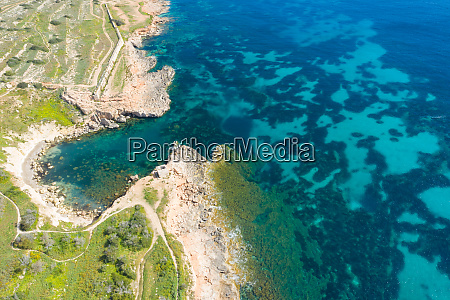 aerial view of the famous mellieha