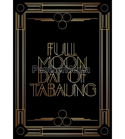golden decorative full moon day of