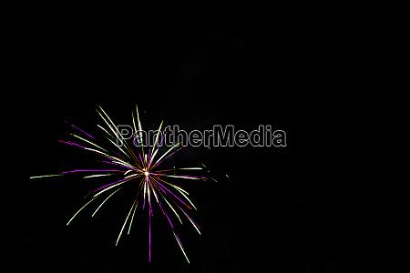 fireworks display night in london uk