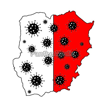 stop coronavirus in poland poland map