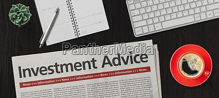 newspaper on a desk