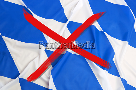 crossed out flag of bavaria curfew