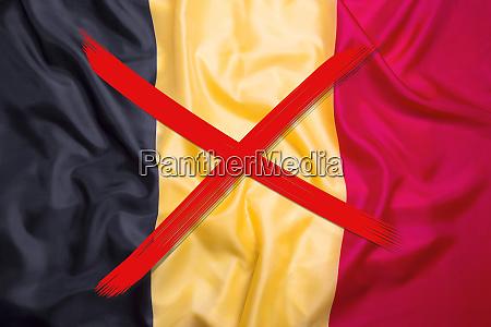 crossed out flag of belgium curfew