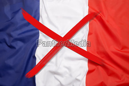 crossed out flag of france curfew