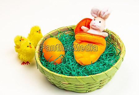 easter bunny made of fabric in