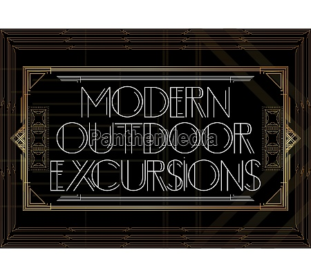 golden decorative modern outdoor excursions sign