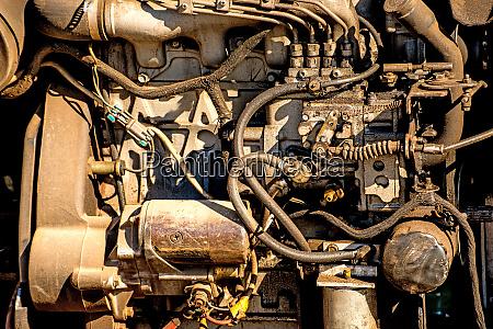 old aged car motor