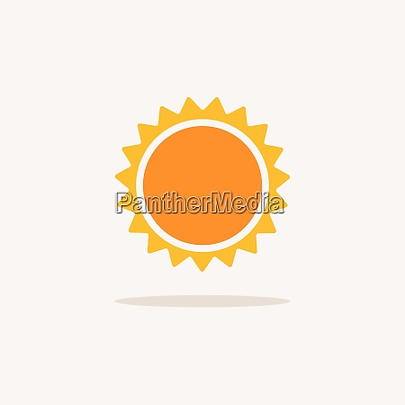 sun color icon with shadow weather