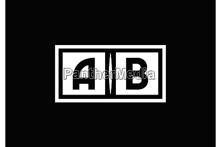 a b ab initial letter logo