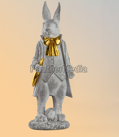 in anticipation of easter the rabbit