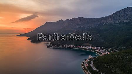 aerial view of adriatic coast near