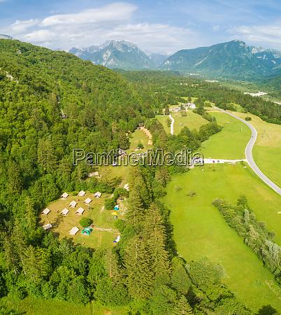 aerial view of bovec slovenia