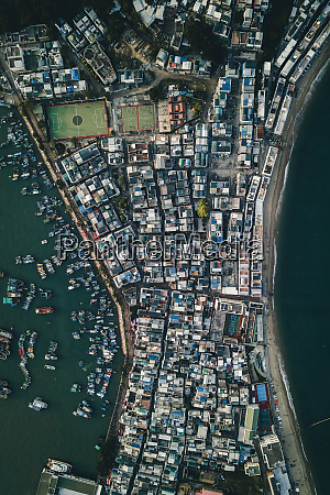 aerial view of cheung chau in