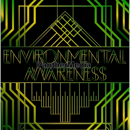 environmental awareness sign with vintage letters