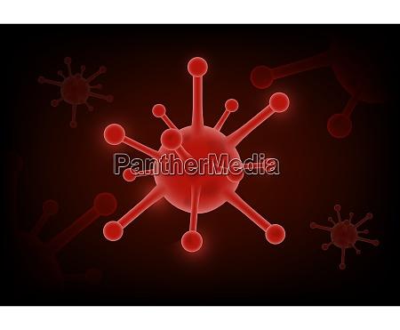 coronavirus covid 2019 on red futuristic