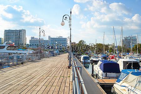 pier marina larnaca cityscape cyprus