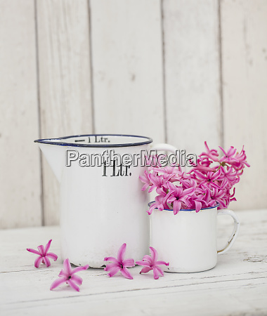 vintage still life with flower and
