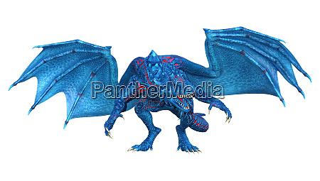 3d, rendering, fairy, tale, dragon, on - 28215643