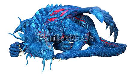 3d, rendering, fairy, tale, dragon, on - 28215648