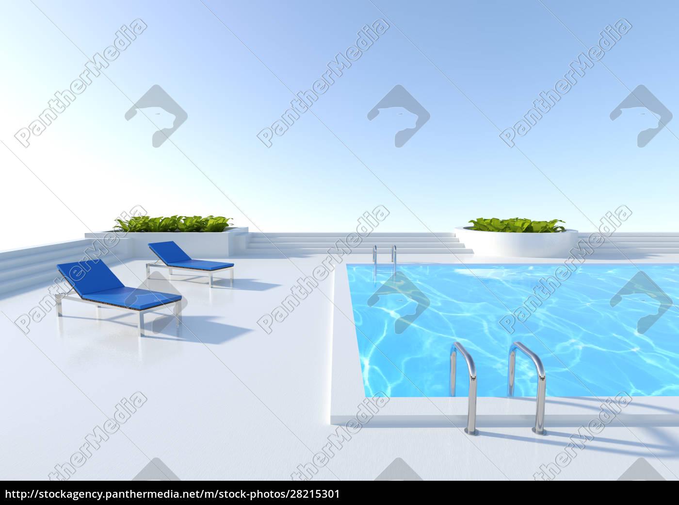 3d, rendering, pool, outside - 28215301