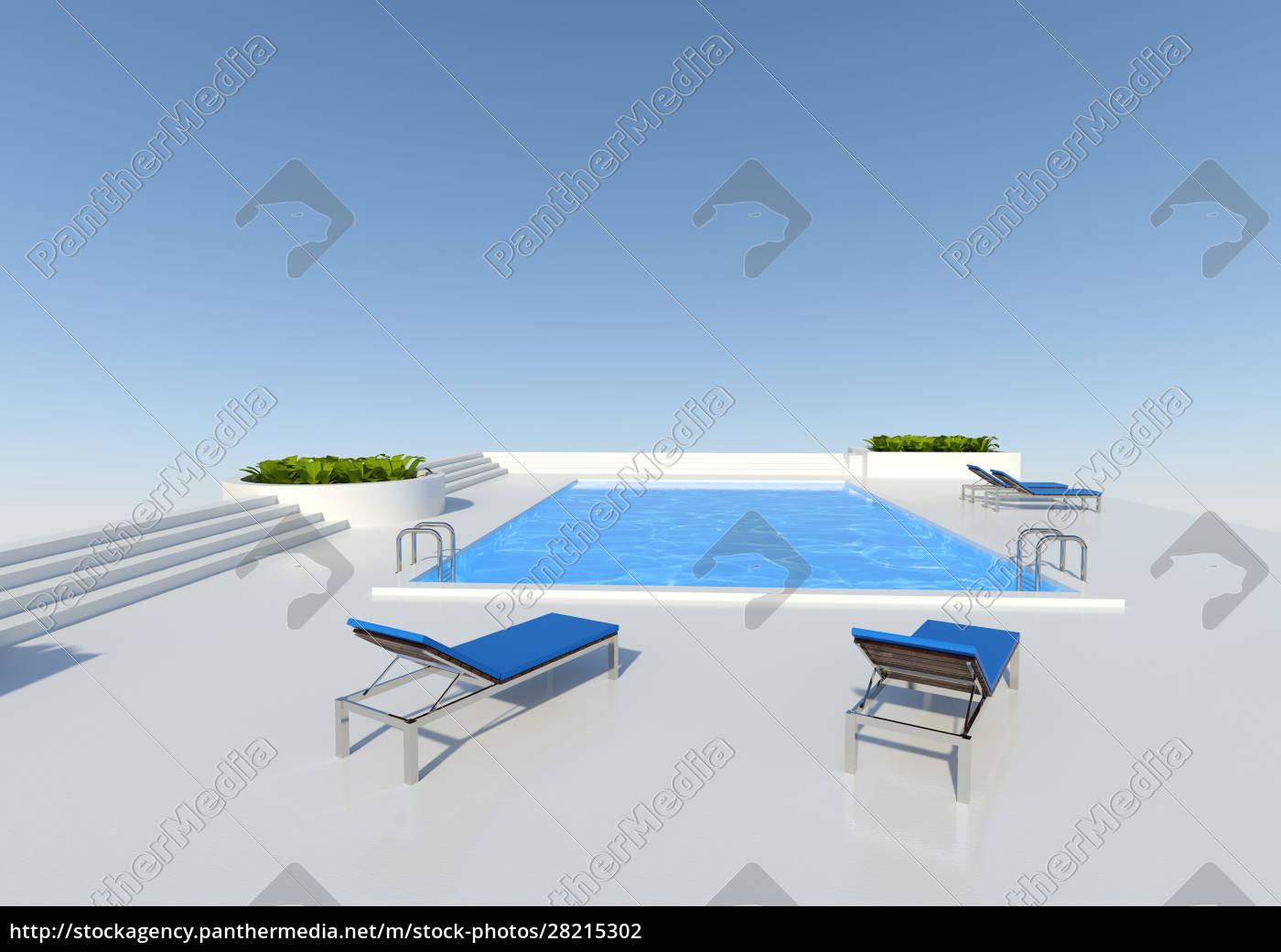 3d, rendering, pool, outside - 28215302