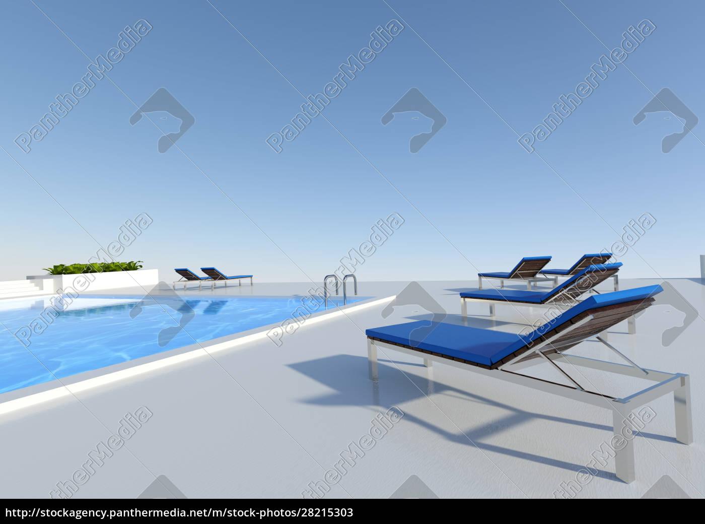 3d, rendering, pool, outside - 28215303