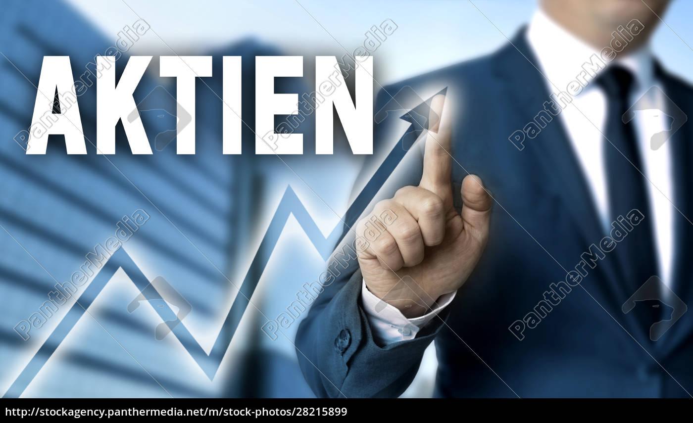 aktien, (in, german, shares), touchscreen, is - 28215899