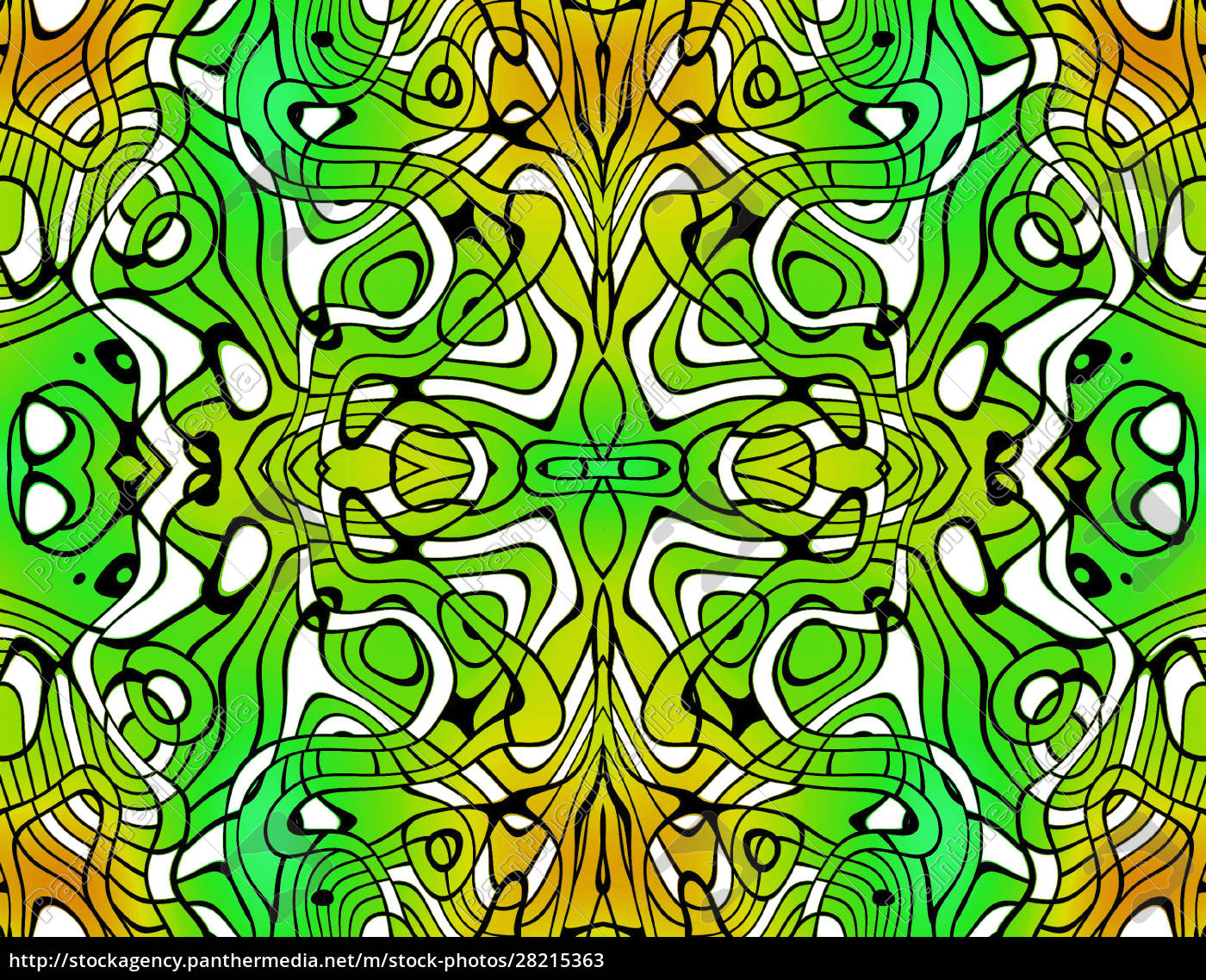 allover, repeating, pattern, tile, green, yellow - 28215363