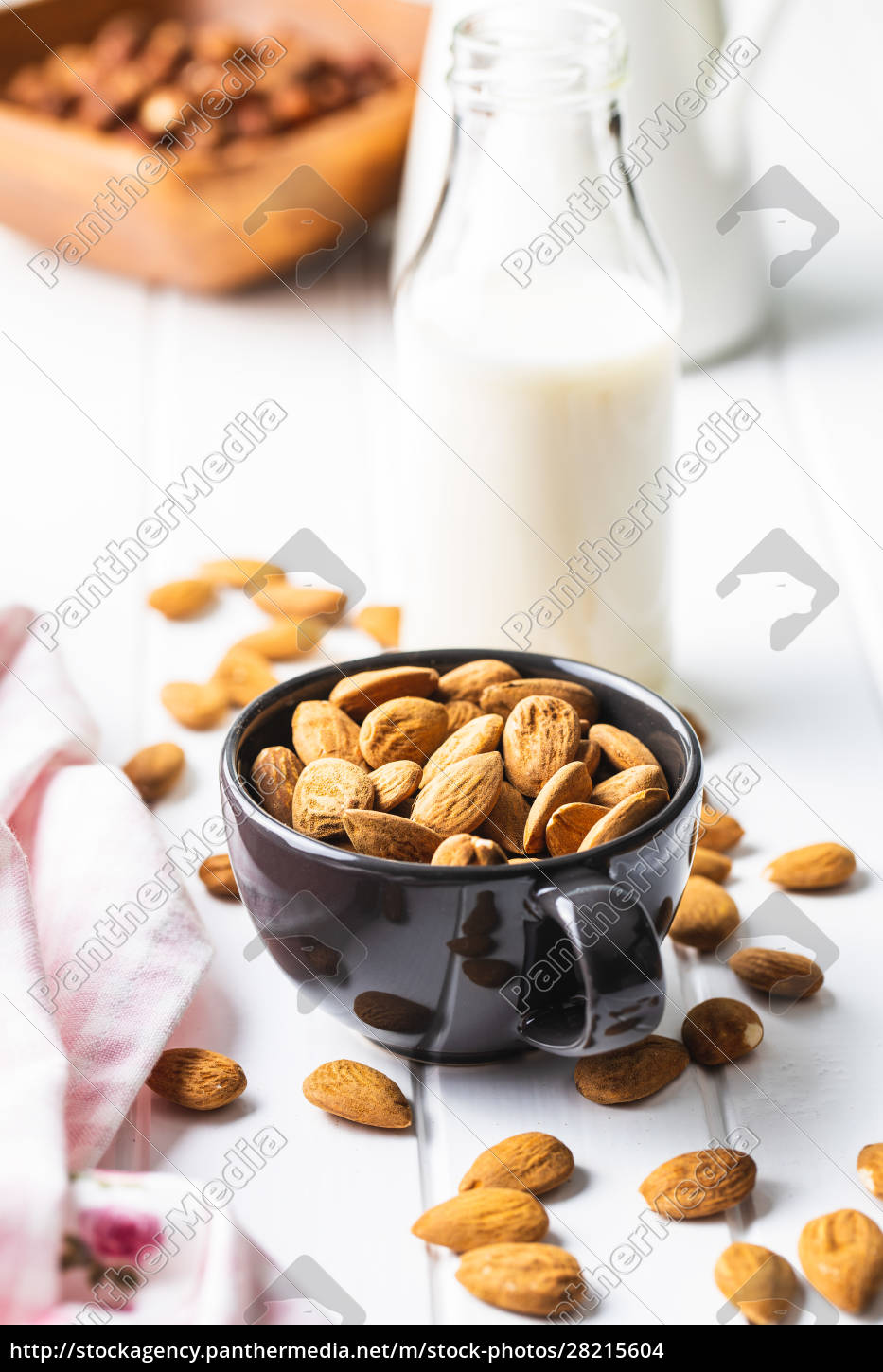 almonds, nuts, and, almond, milk. - 28215604