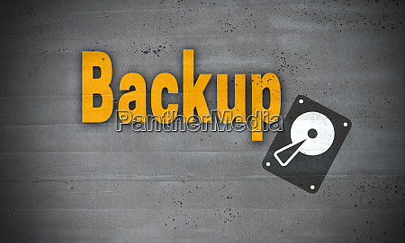 backup, on, concrete, wall, background - 28215797