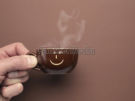 brown, espresso, cup, with, a, smiling - 28215609