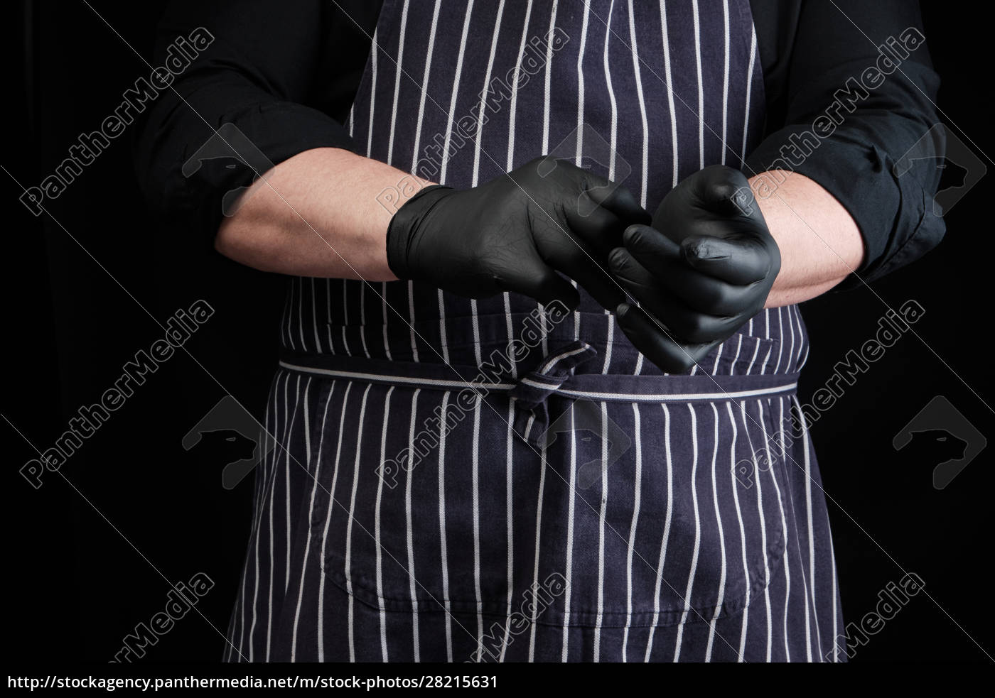 chef, man, in, black, uniform, and - 28215631