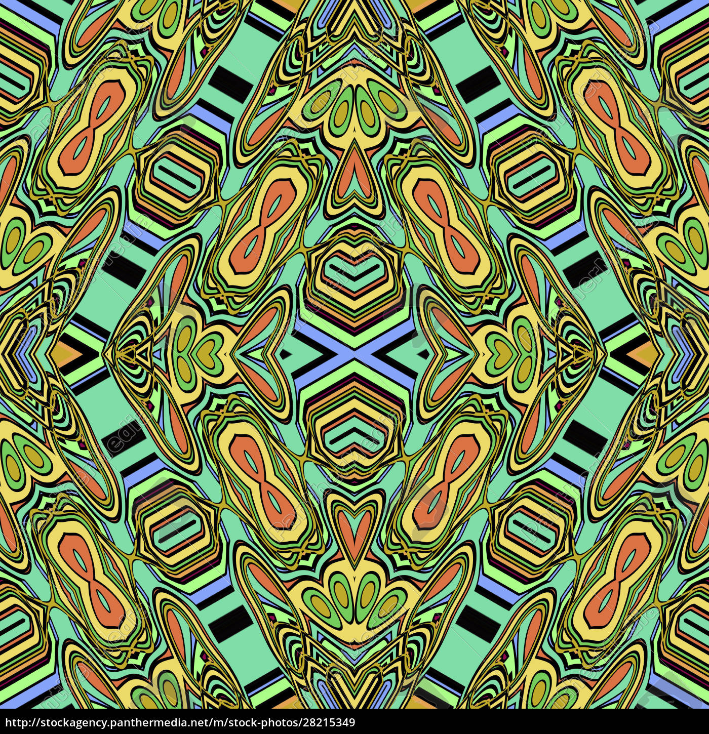 colorful, allover, repeating, pattern, tile - 28215349