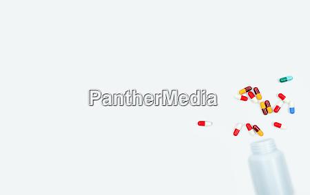 colorful, antibiotic, capsules, and, plastic, drug - 28215269
