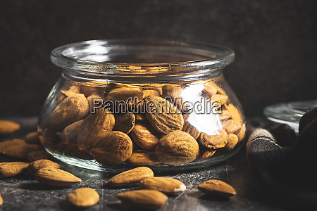 dried, almond, nuts. - 28215595