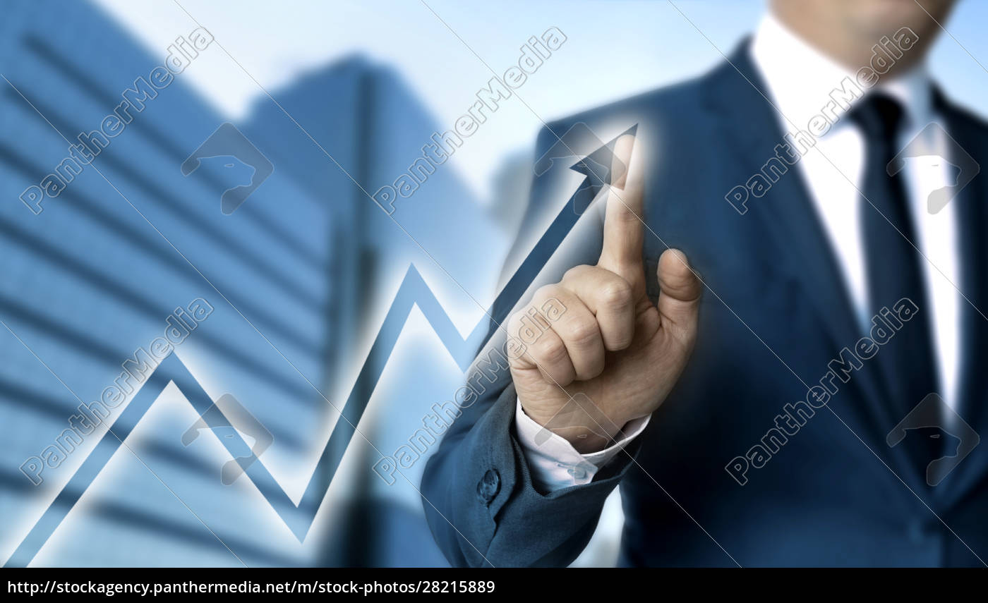 graph, touchscreen, is, operated, by, businessman - 28215889