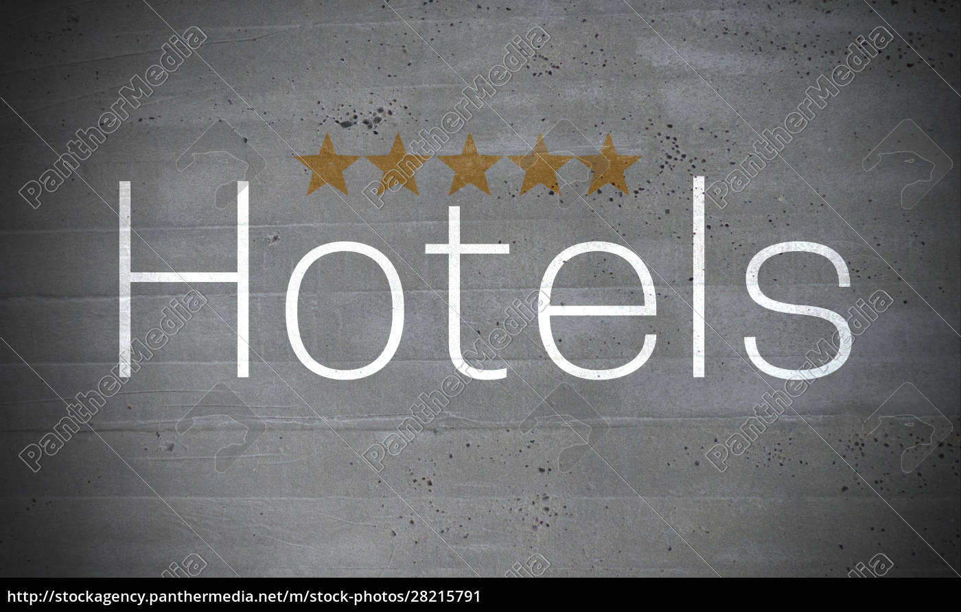 hotels, on, concrete, wall, concept, background - 28215791