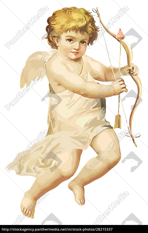 illustration, of, cute, little, angel, cupid - 28215337