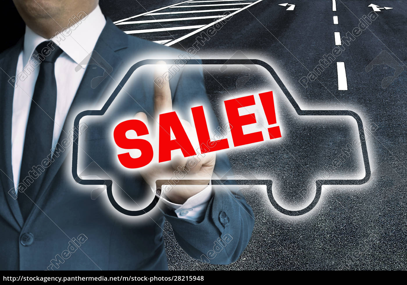 sale!, touchscreen, is, operated, by, man - 28215948
