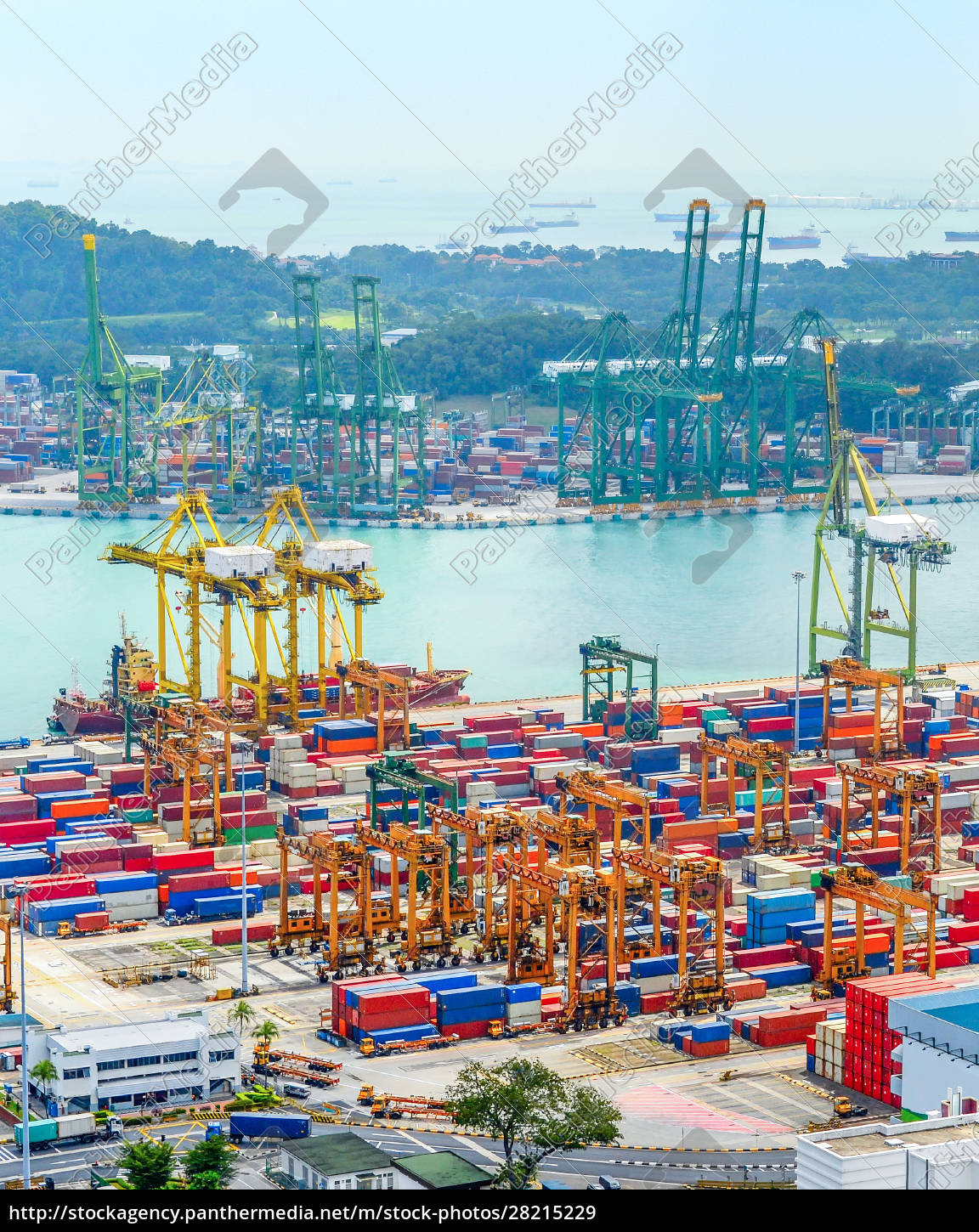 singapore, port, containers, import, export - 28215229