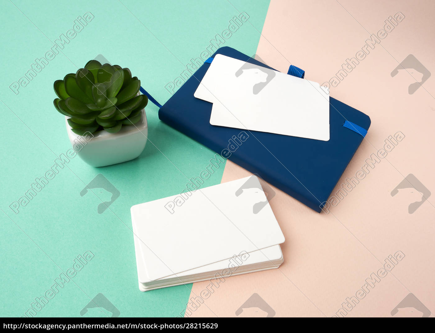 stack, of, rectangular, white, blank, business - 28215629