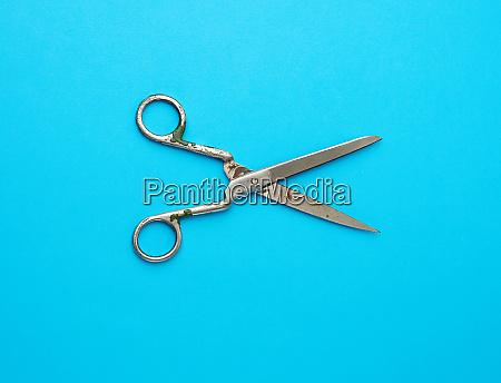 very, old, vintage, metal, tailor, scissors - 28215660
