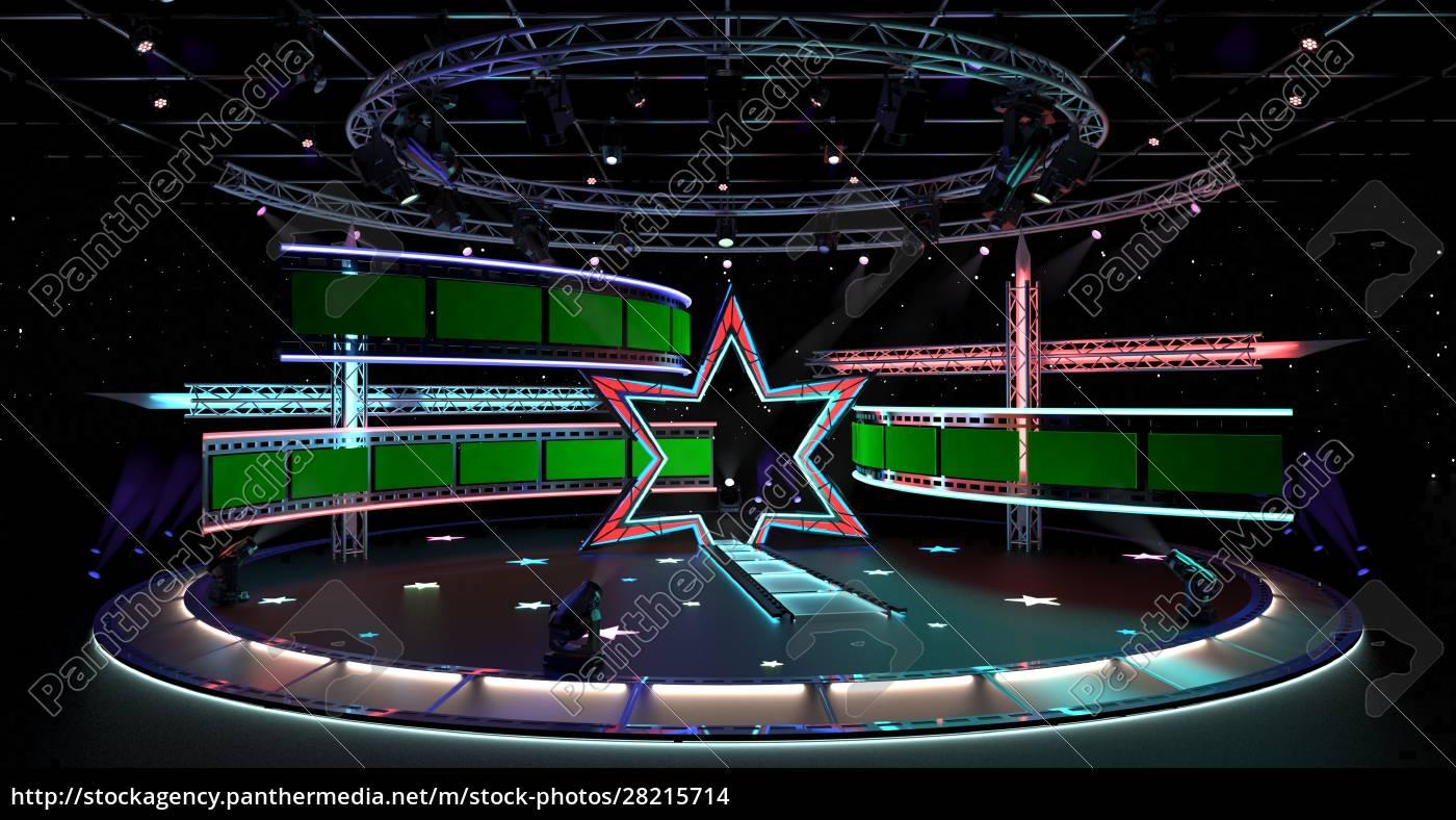 virtual, tv, studio, entertainment, set, 4. - 28215714