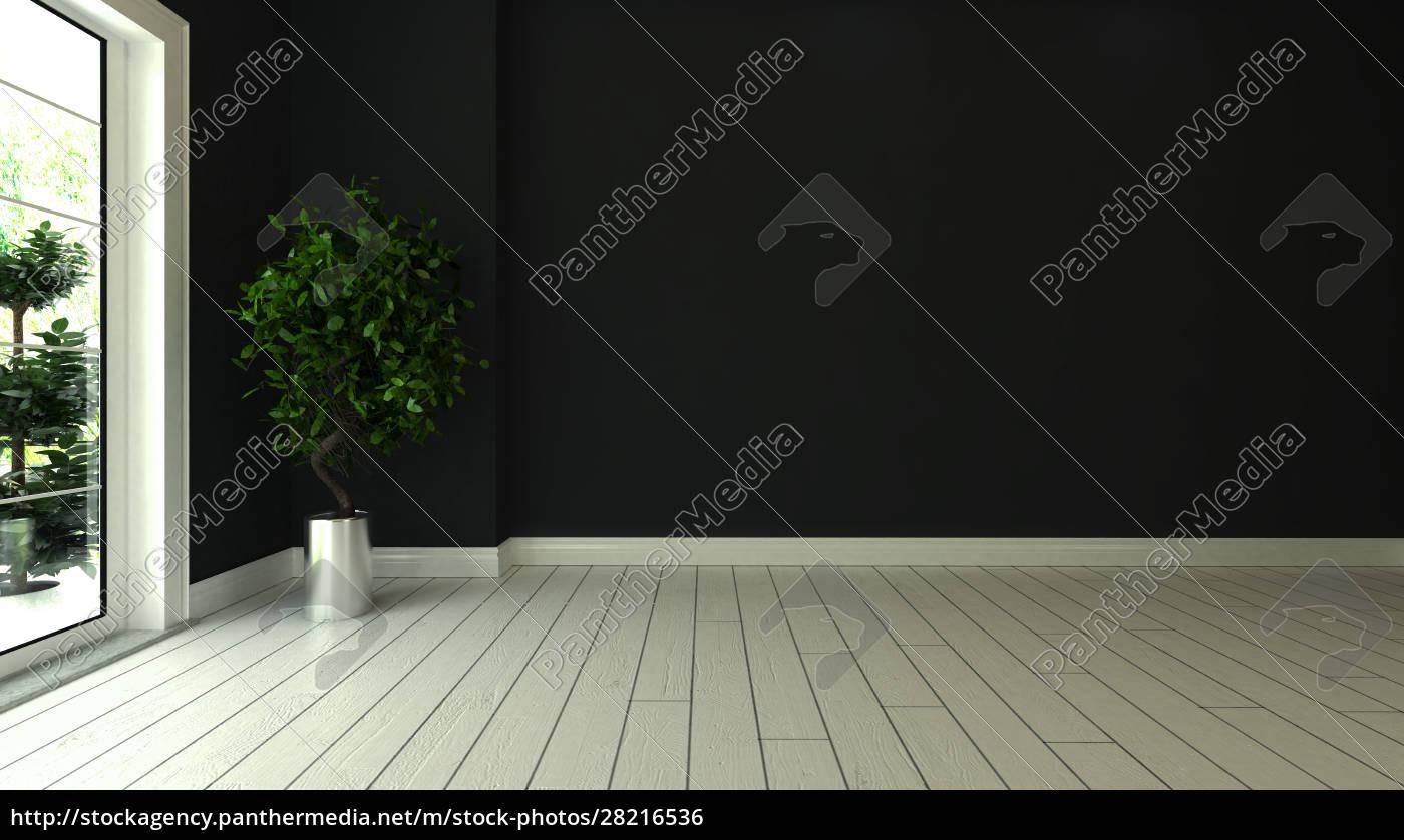 black, wall, empty, room, interior, design - 28216536