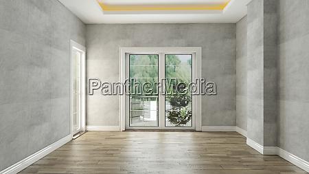 concrete, wall, empty, room, interior, design - 28216537