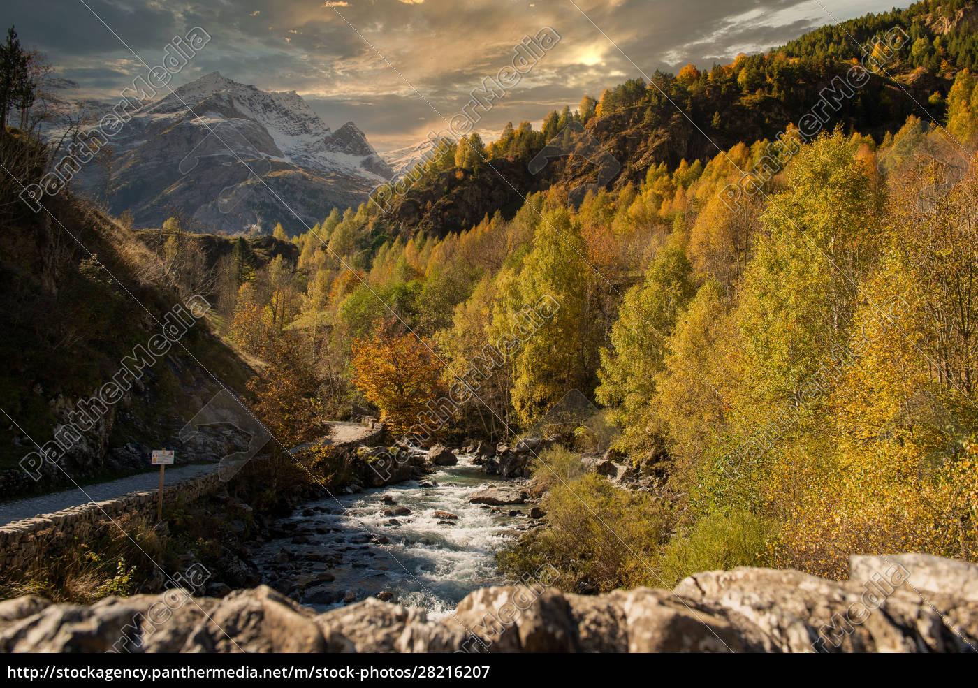 river, gave, de, gavarnie, in, pyrenees - 28216207