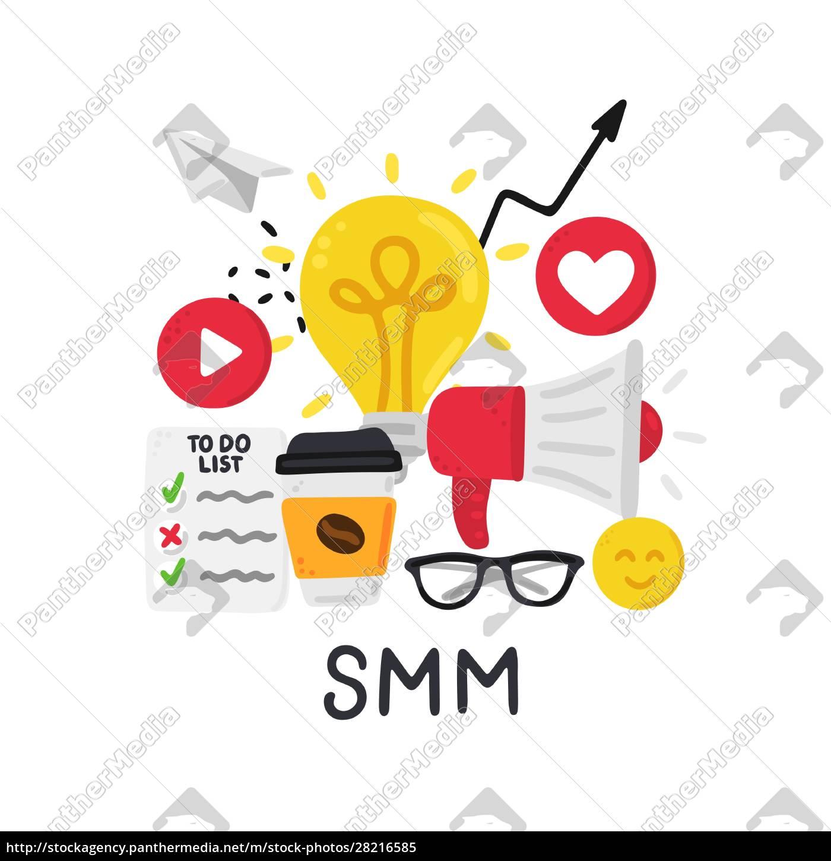 vector, smm, elements., social, media, marketing. - 28216585